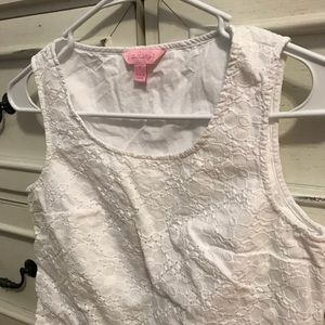 Girls Lily Pulitzer White Top